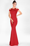 Laced Red Evening Dress