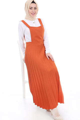 Women's Pleated Modest Long Dress