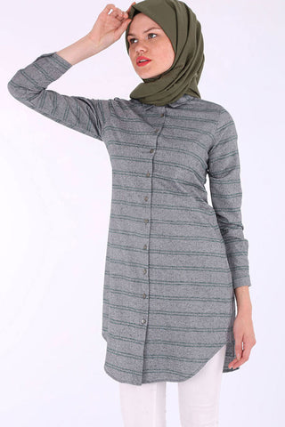 Women's Tunic Length Cotton Shirt
