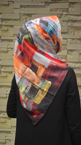 Women's Patterned Twill Scarf