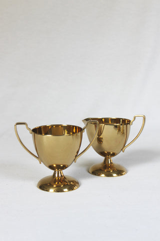 Trophy Creamer & Sugar Bowl