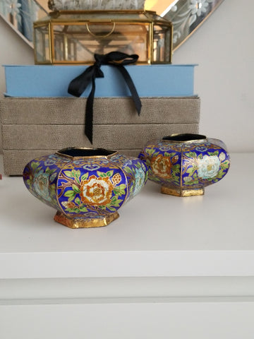 Cloisonne Vases (set of two)