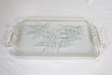 Lucite Tray: Etched Grape Leaves