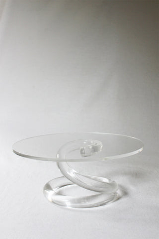 Lucite Cake Plate