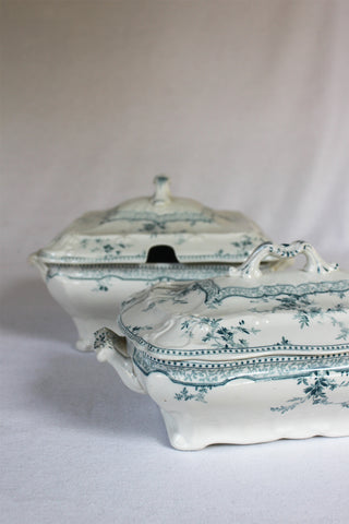 Ridgway Blue & White Serving Pieces