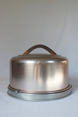 Pale Copper Cake Carrier