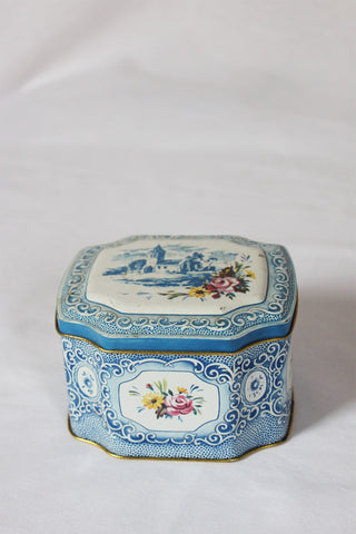 Blue Floral Tea Tin