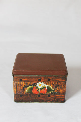 Strawberry Basket Tea Tin