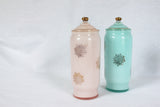 Pink & Blue Glass Cannisters