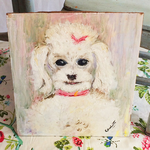 Charlotte Poodle Painting