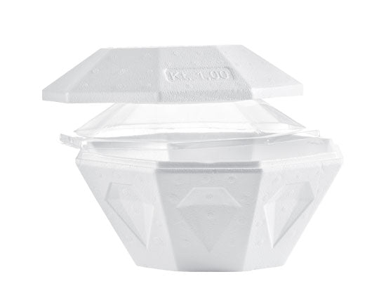 White Takeout Container Diamond - 1 L