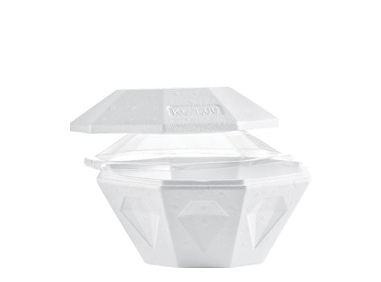 White Takeout Container Diamond - 0.5 L