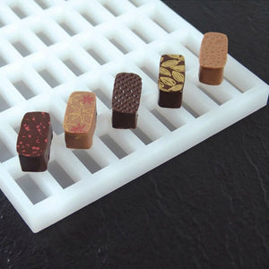Chocolate praline mould -  rectangular shape (LS03)