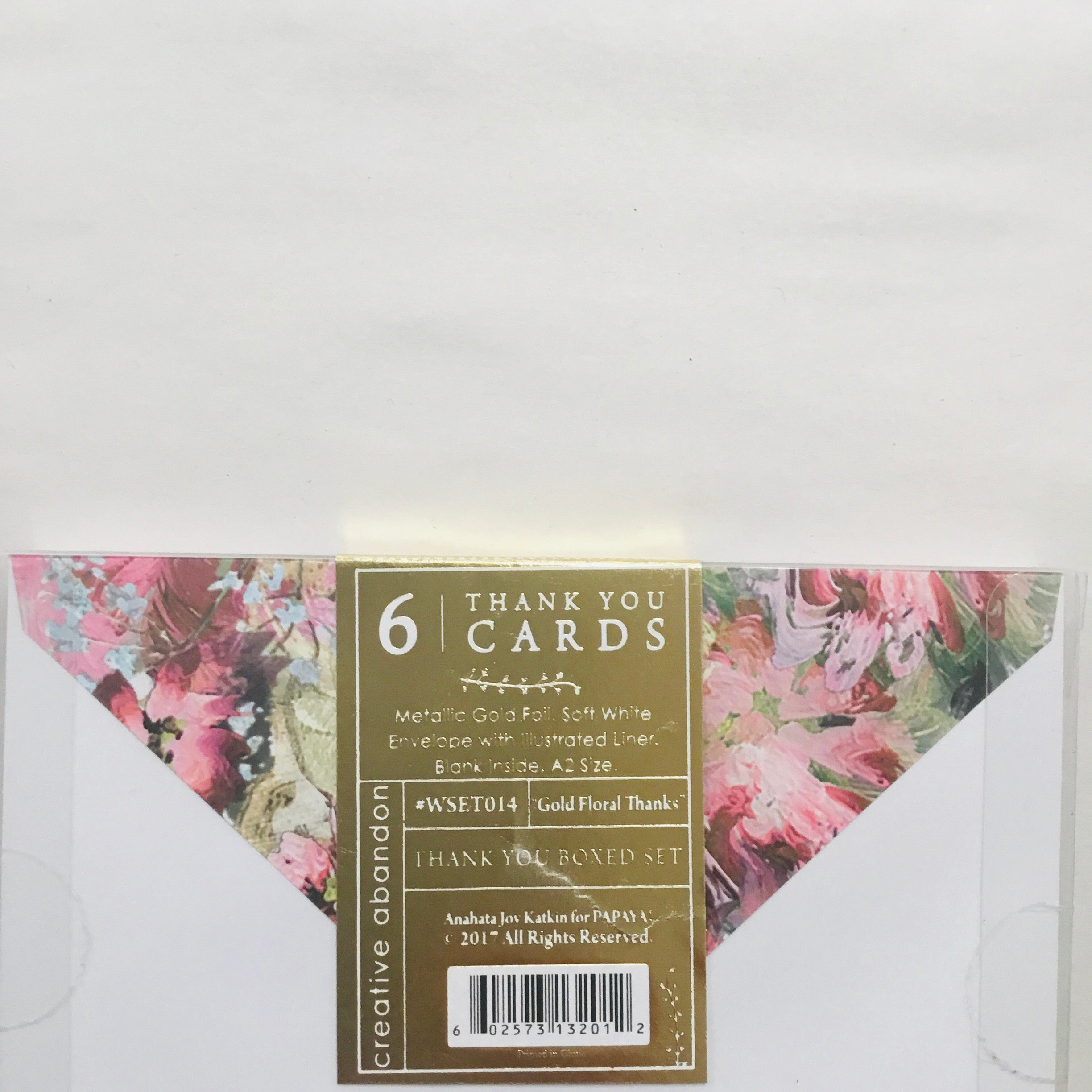 Papaya Floral Box Card Set
