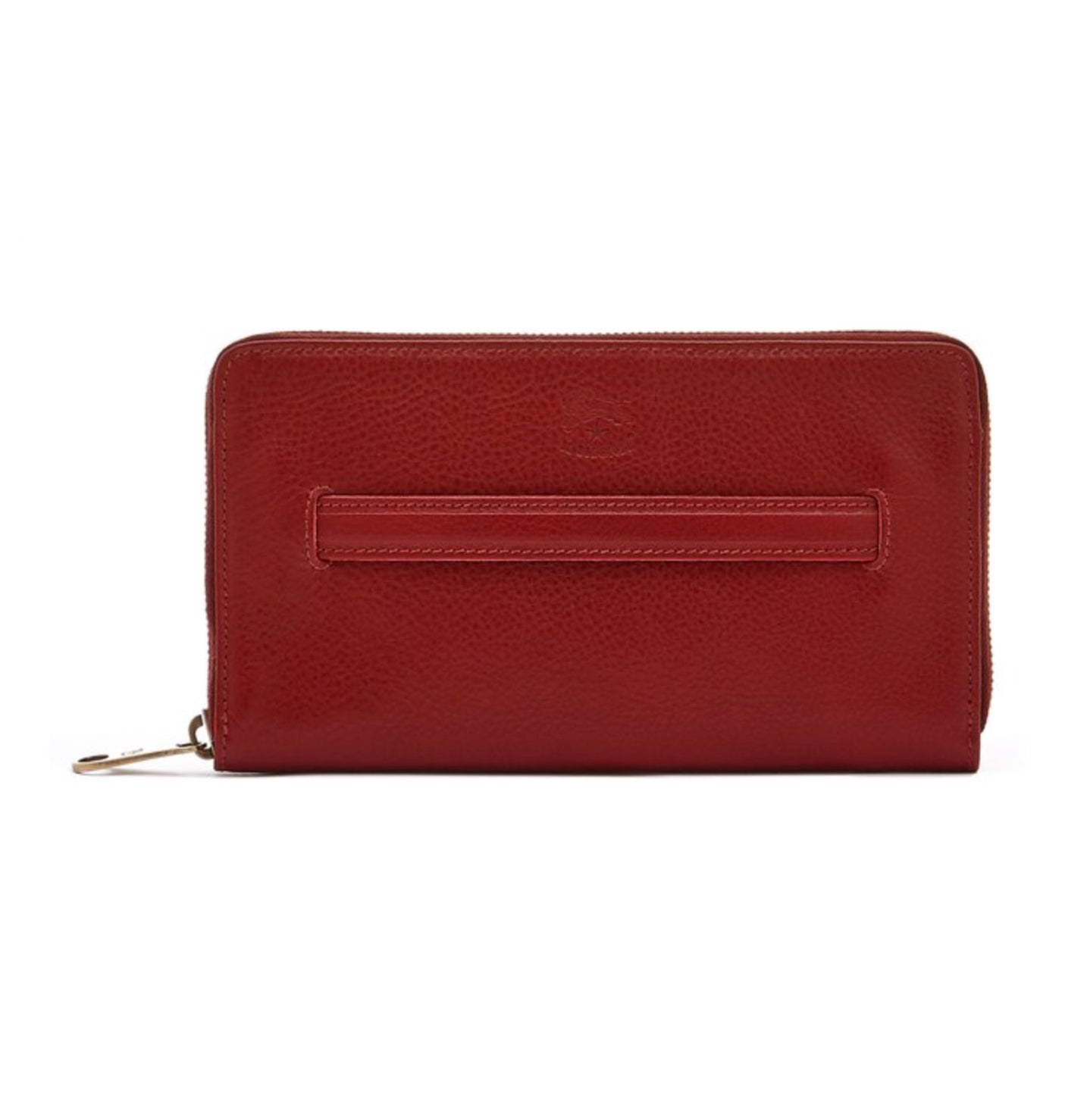 Rosso Zip Around Wallet by Il Bisonte
