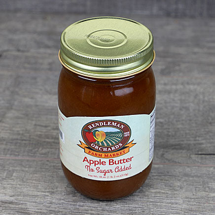 Apple Butter, no sugar added (local Rendleman Orchards)-18oz ITEM 6362