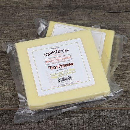 Cheese, Tipsy Cheddar (local Marcoot Jersey Creamery) - 5oz. block ITEM 6402