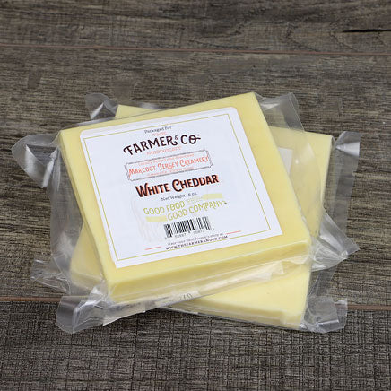 Cheese, White Cheddar (local by Marcoot Jersey Creamery) - 6oz. block ITEM 6399