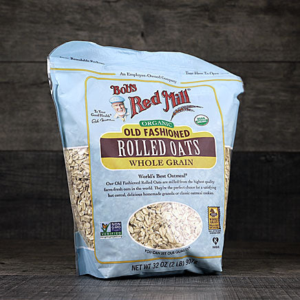 Oatmeal, Organic Rolled Oats, Whole Grain - 32 oz. ITEM 6851