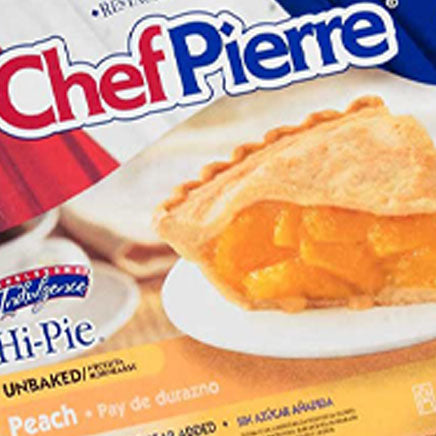 Pie, Peach, Chef Pierre - 3 lb. avg. ITEM 6312