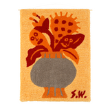 "SW-001/Orange<br>Shiomi Wada×MIYOSHI RUG<br>""Flower""<br>2WAY RUG<br>"