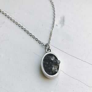 Raw Meteorite Pendant Necklace