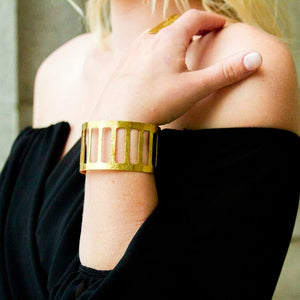 Brass Caged Cuff
