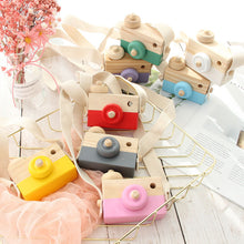 "Load image into Gallery viewer, ""Say Cheese"" Wooden Camera teether and grasping toy"