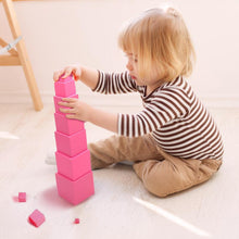 Load image into Gallery viewer, Montessori Pink Tower blocks educational toy
