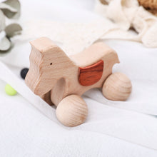 Load image into Gallery viewer, Wooden teethers with wheels