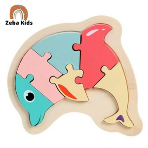 Wooden educational Montessori puzzle for babies and toddlers