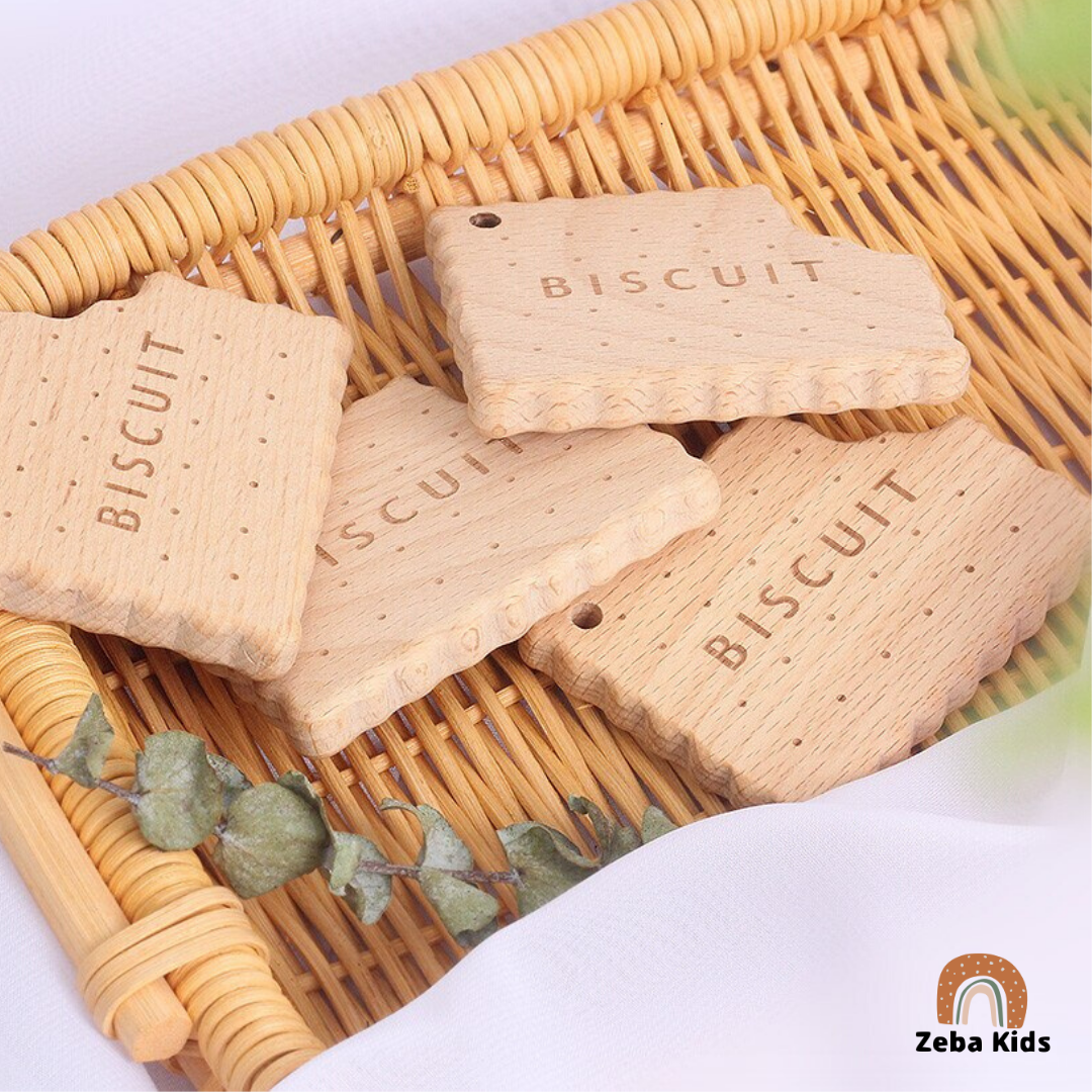 Organic wood Biscuit Teether