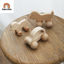 Load image into Gallery viewer, Montessori Wheels Teether Push along toy