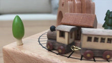 Load and play video in Gallery viewer, Personalized wood music box with clockwork mechanism
