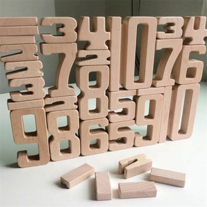 Wooden Number Building Blocks