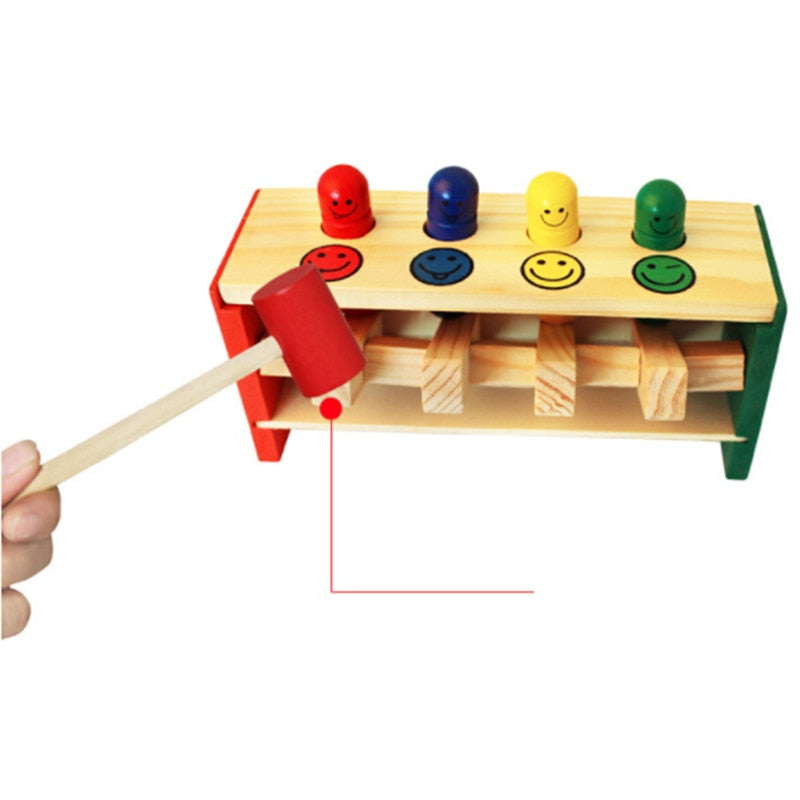 Hammer educational wooden toy for toddlers