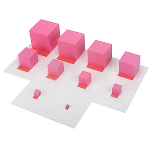 Montessori Pink Tower blocks educational toy