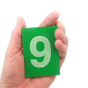 Montessori Sandpaper Numbers 0-9