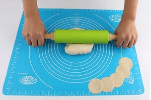 Eco-friendly wooden Silicone Rolling Pin for dough pretend play