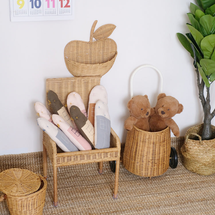 Rattan Apple Storage Basket