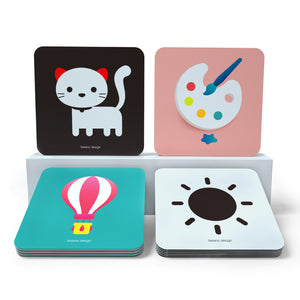 Baby Visual Stimulus High Contrast Black white and colorful Cards for babies 0-12 months