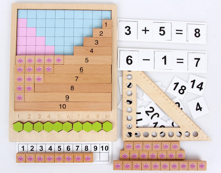Montessori Math Multiplication Division Addition and Subtraction set