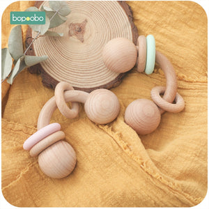 Curved Wooden Rattle