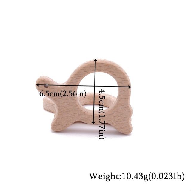 Wooden animal teether