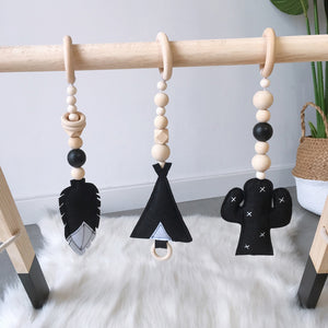 Wooden gym activity play