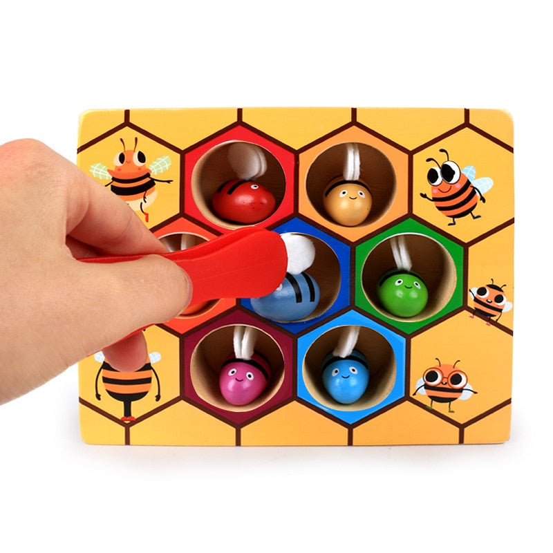 Buzzing bees to beehive matching game