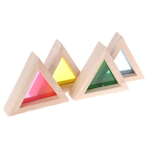 Acrylic transparent rainbow wooden blocks