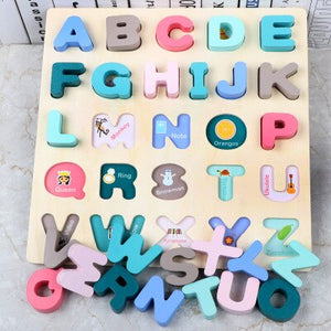Alphabet board with pictures