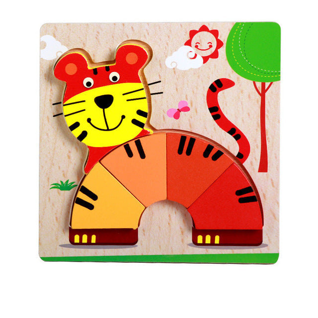 Montessori colorful wooden puzzle for babies