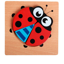 Load image into Gallery viewer, Montessori colorful wooden puzzle for babies